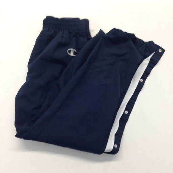 Champion Men's Medium Lined Blue Side Snap Pants